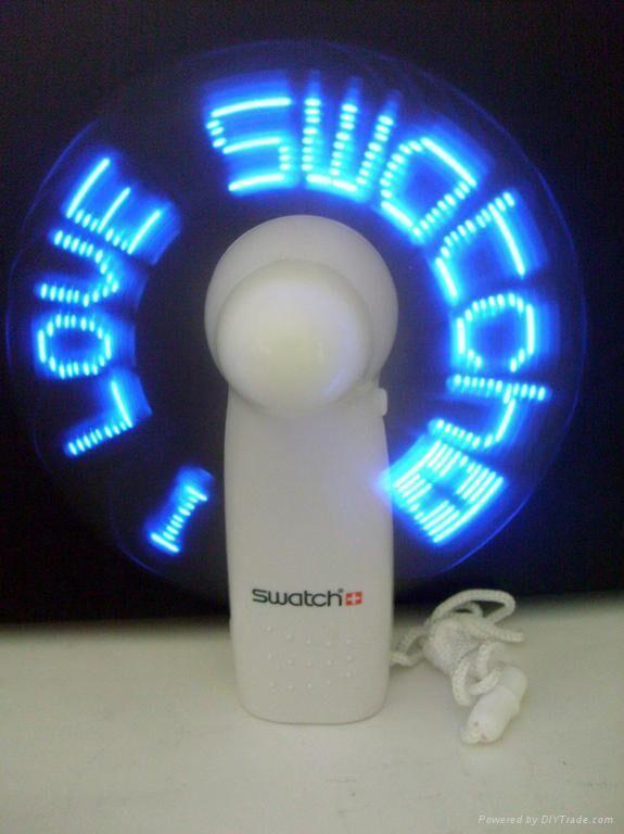 LED Flashing Mini Hand-Fans