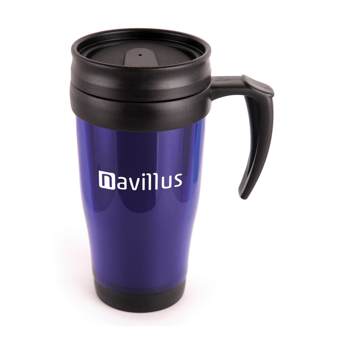 Translucent Coloured Travel Mug with Handle in blue