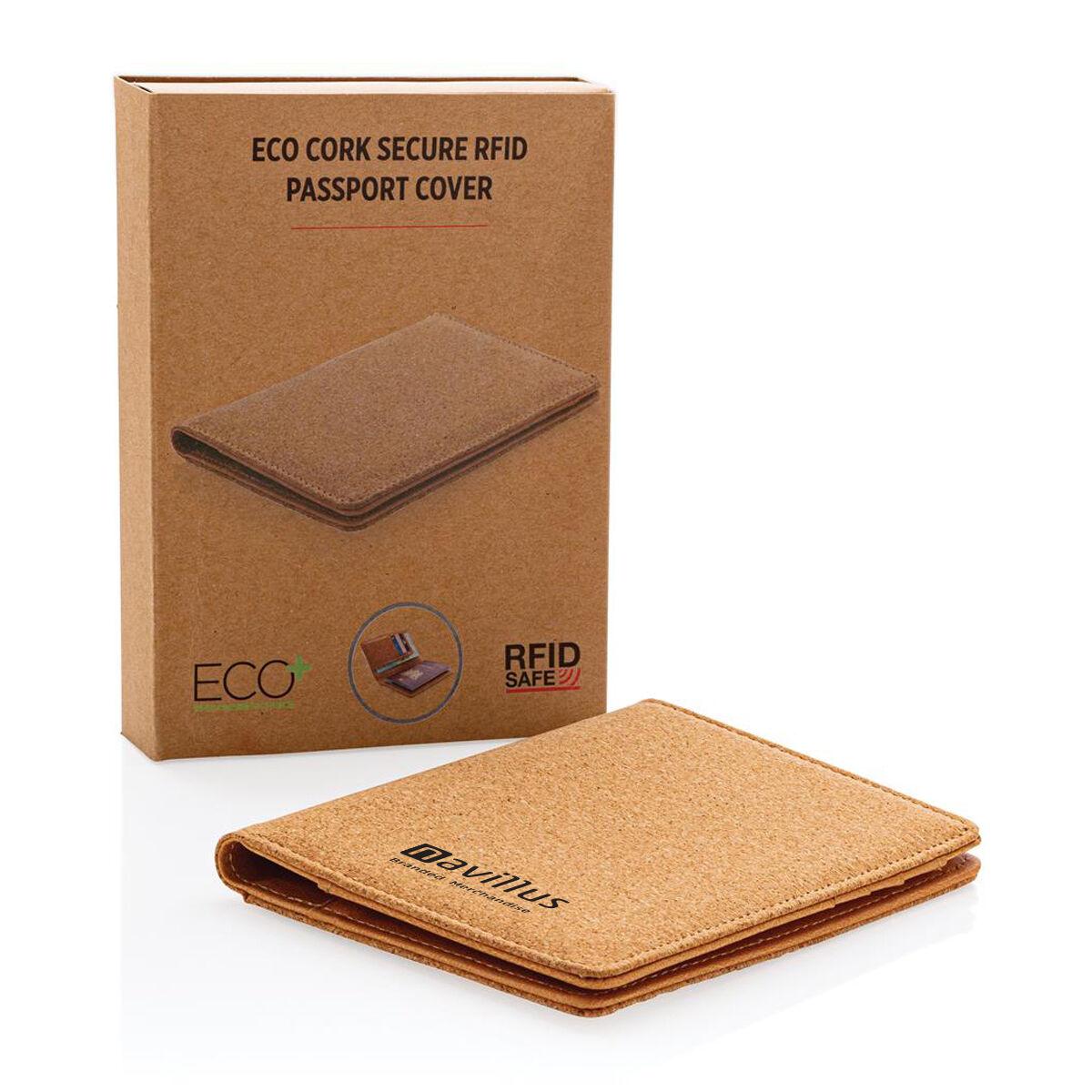 Cork RFID Passport Wallet