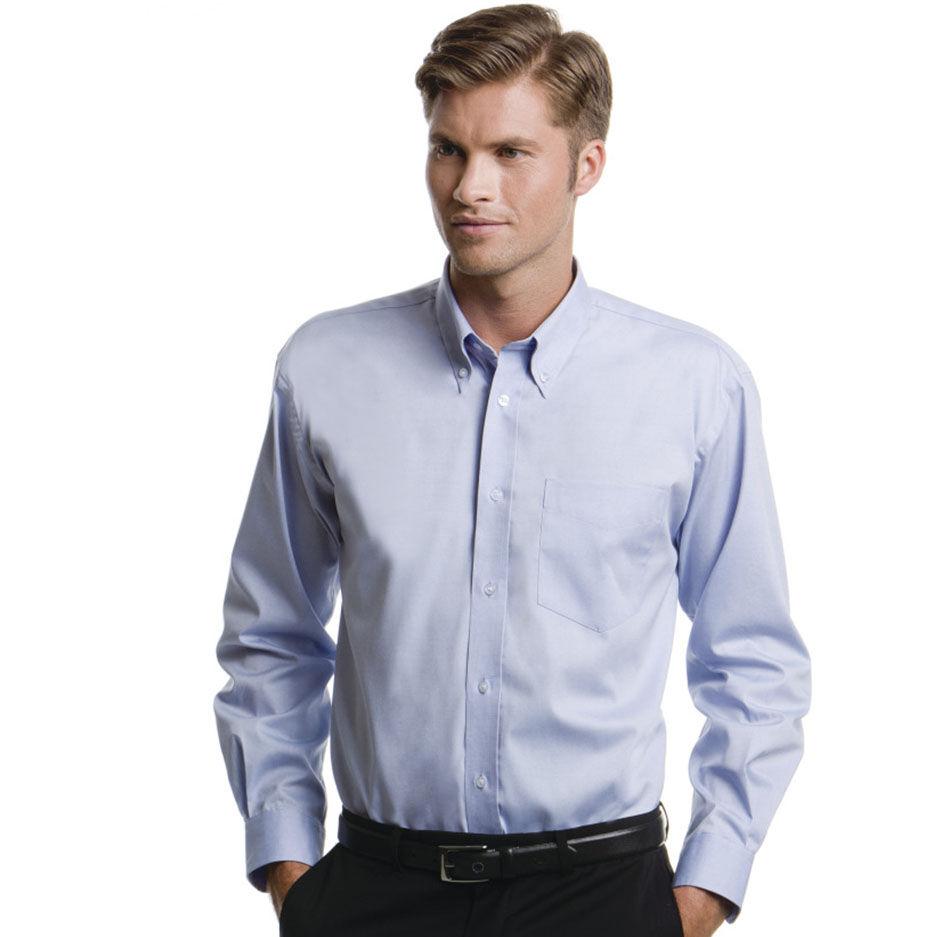 Kustom Kit Men's Long Sleeve Corporate Oxford Shirt (Light Blue)
