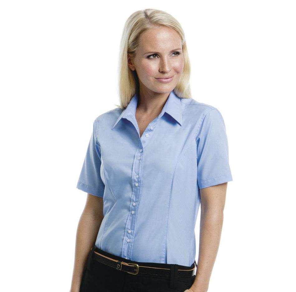 Kustom Kit Cotton Short Sleeve Shirt (Ladies)