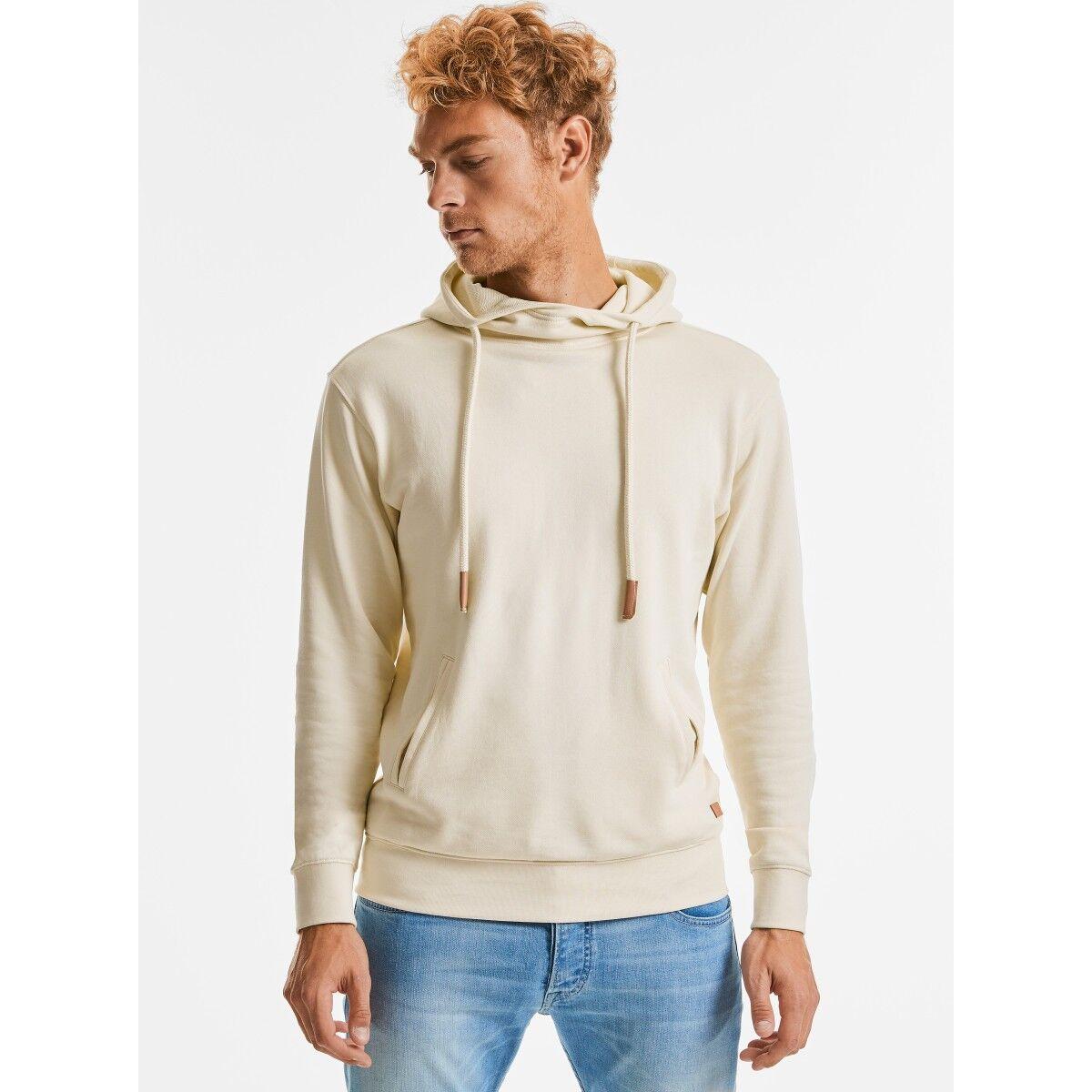 Russell Organic High Collar Hoodie - Natural
