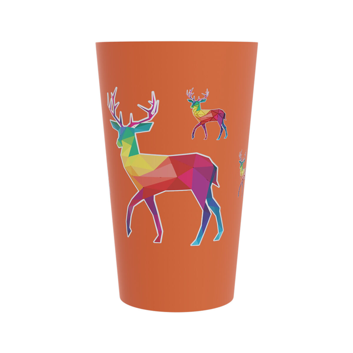 Reusable Plastic half pint cups
