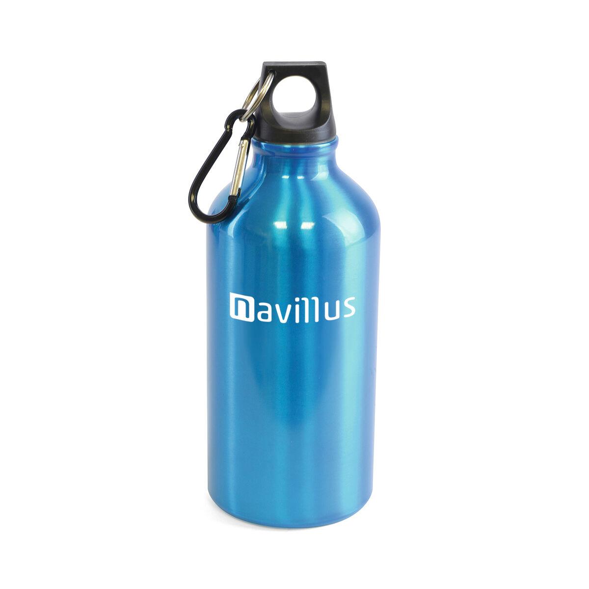 Aluminium Water Bottle 500ml with Carabiner