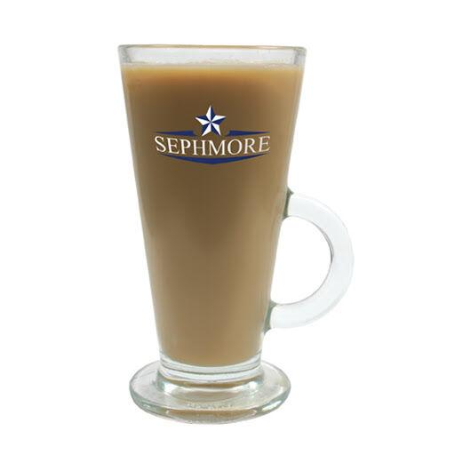 Promotional Glass Latte Coffee Mugs