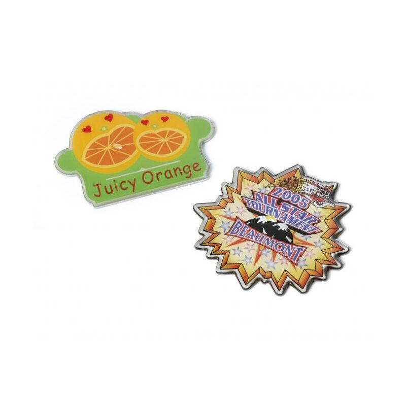 Full Colour Printed Pin Badges