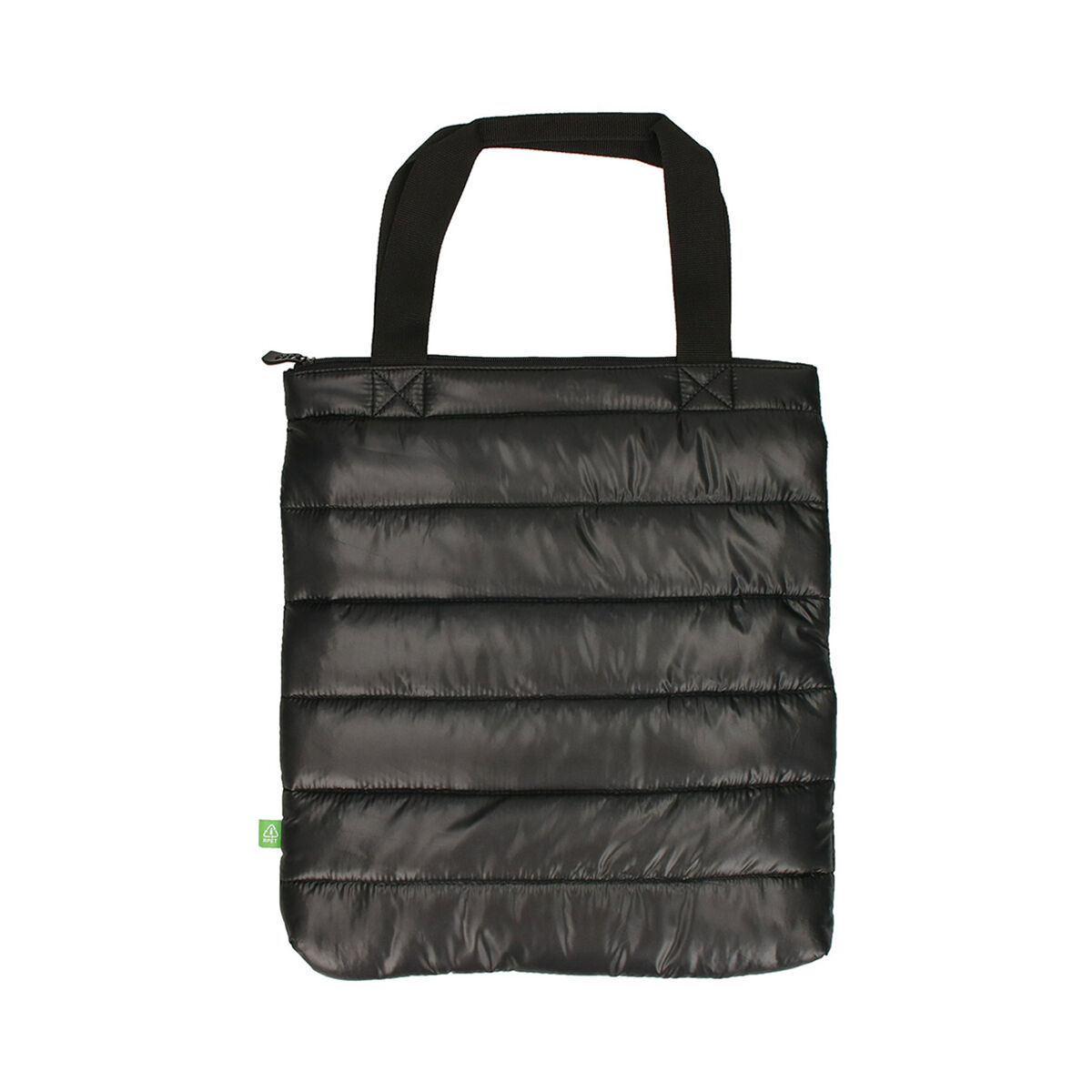 Recycled water bottle quilted shopping bag