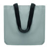 Reflective shopping bag with long handles