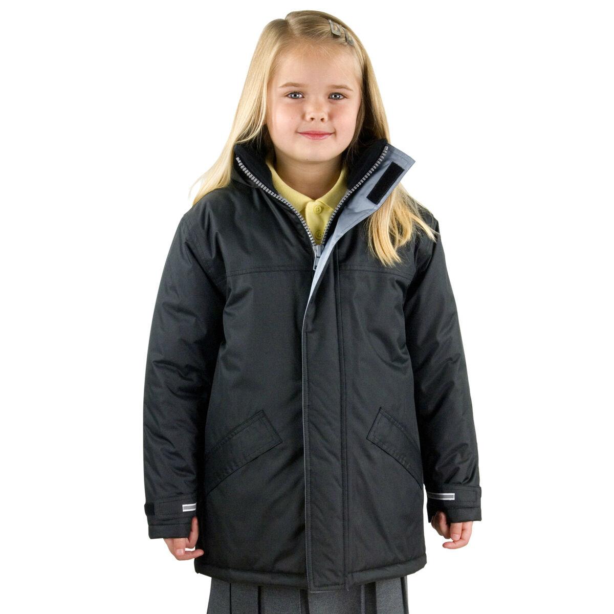 Result Kid's Winter Parka (Black)