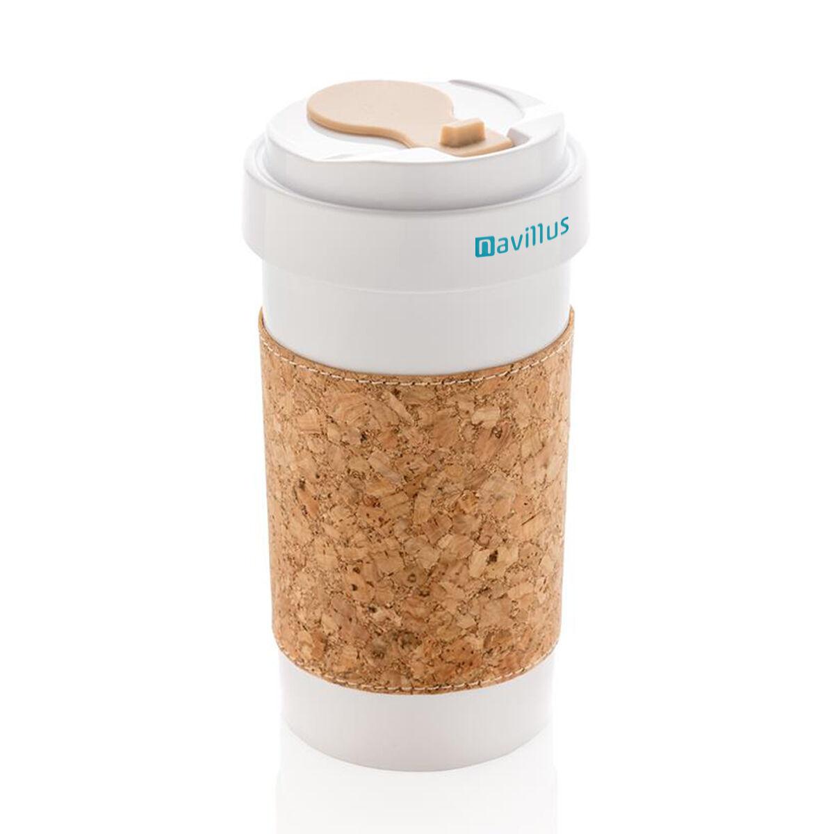 Takeaway Mug Plastic Free with Cork Sleeve