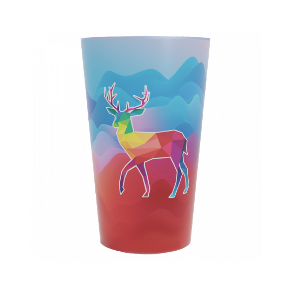 Reusable Plastic Cups printed full colour
