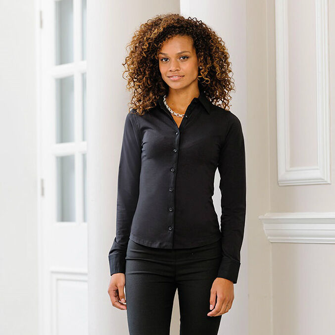 Russell Collection Ladies Easycare Work Shirt