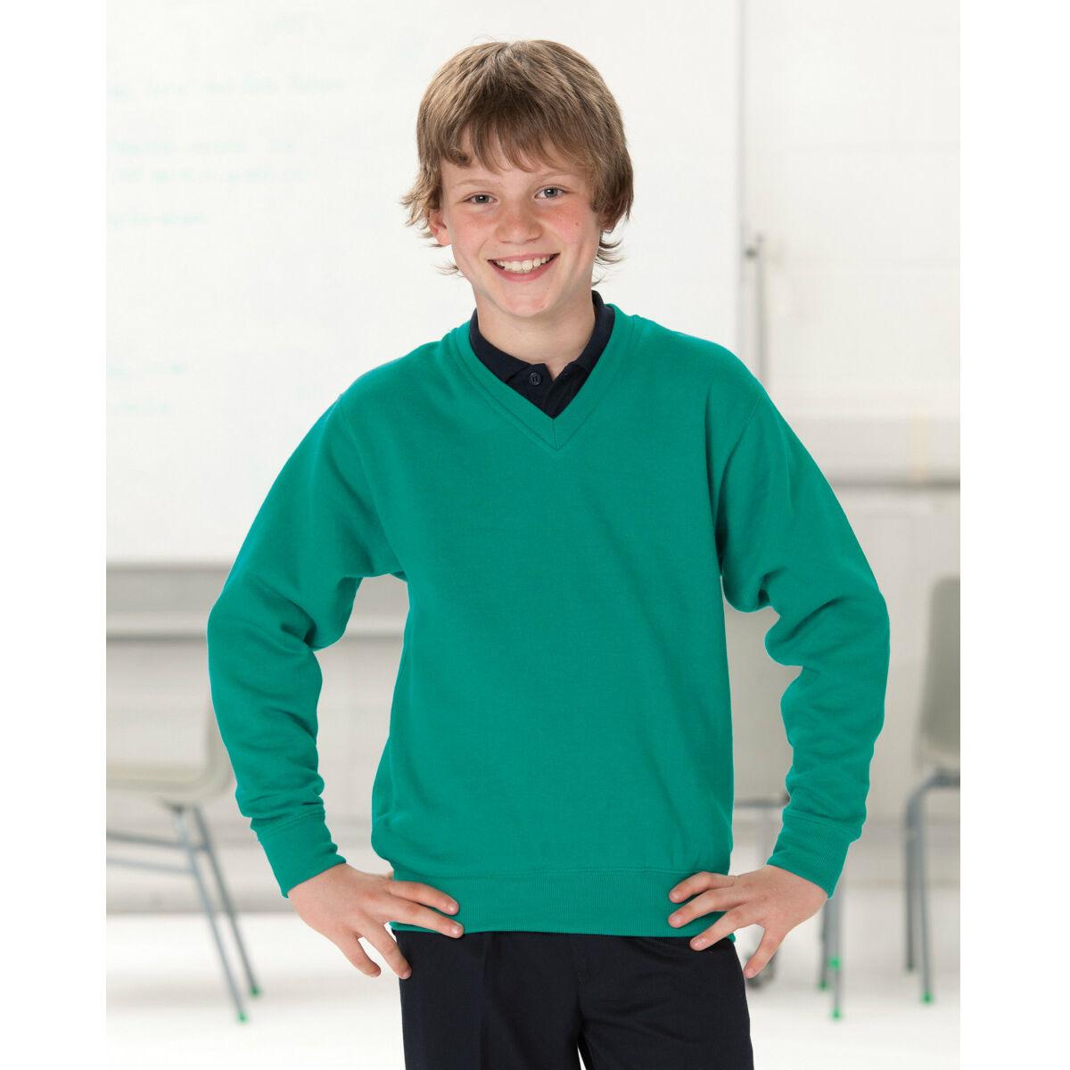 Russells Schoolgear V Neck Sweatshirt