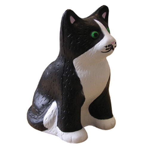 Squeezy Stress Cats to Print - Black & White Cat