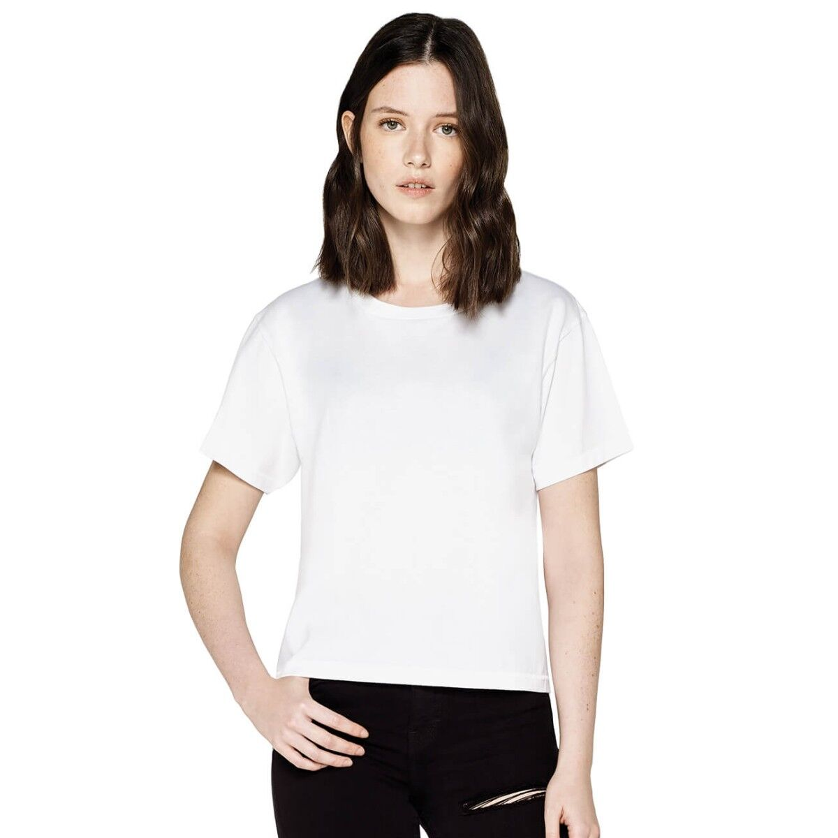 Ladies Earth Positive Short Loose Fit T-shirt