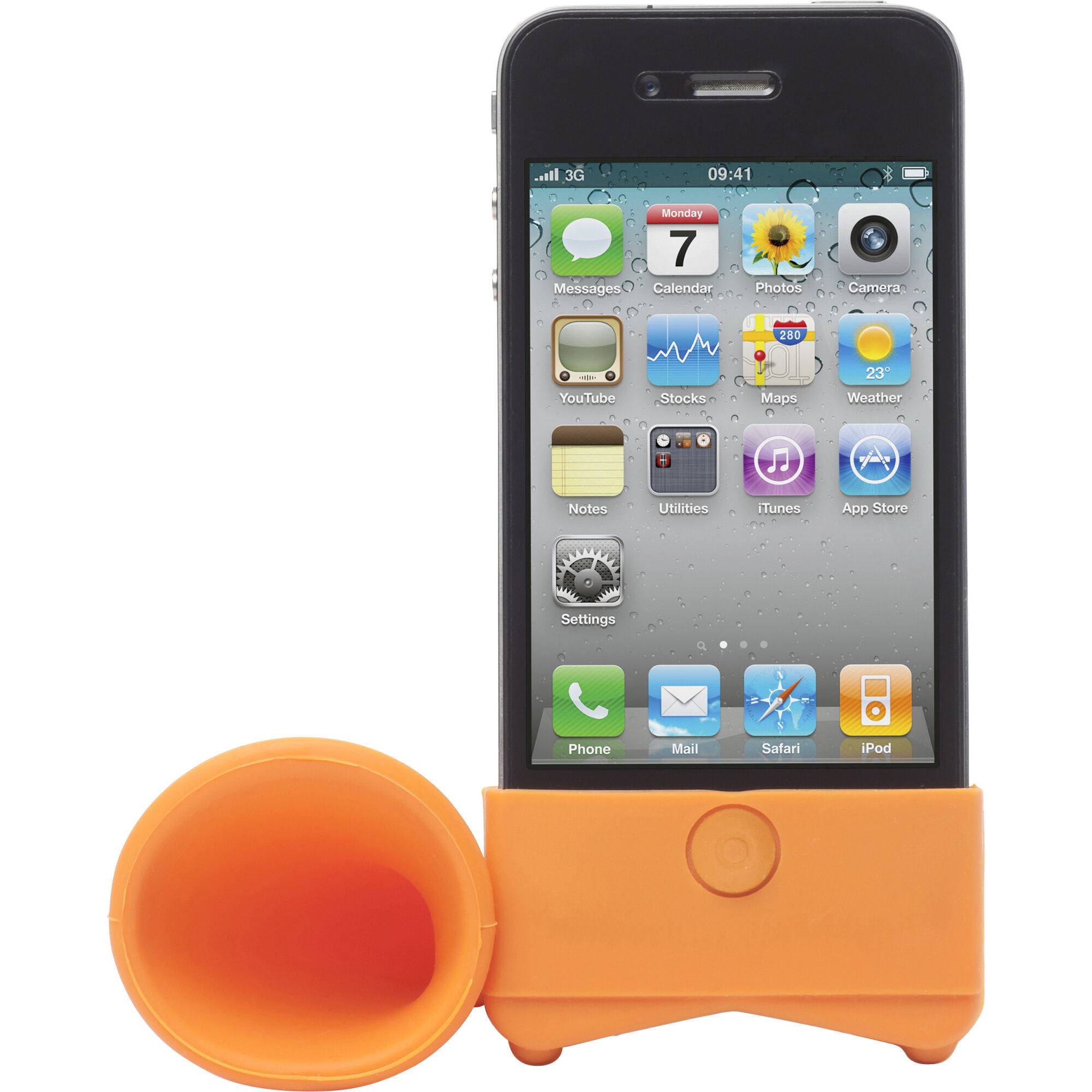 Smartphone Silicone Speaker - Orange