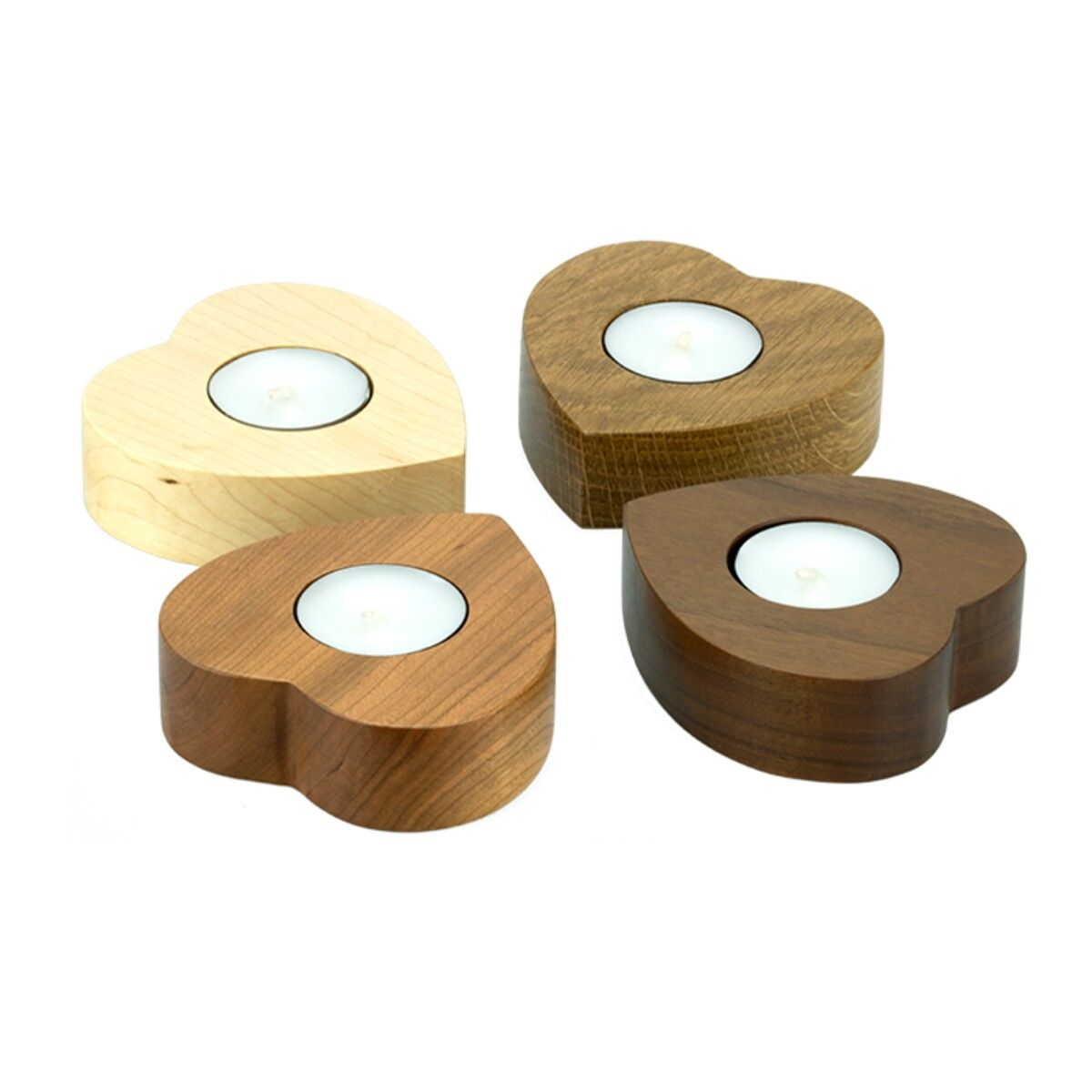Oak Wood Tea Light Holders
