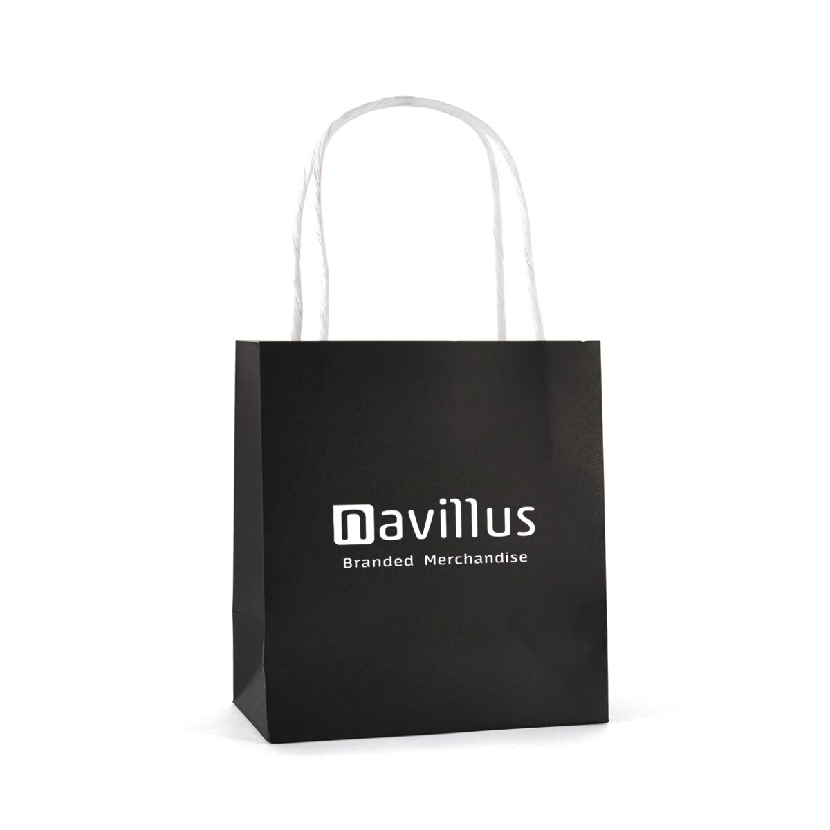 Twist Handle Paper Bags Small Size in Black