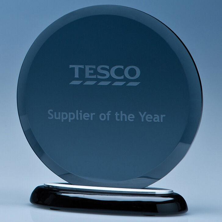 Circular Glass Awards for Engraving