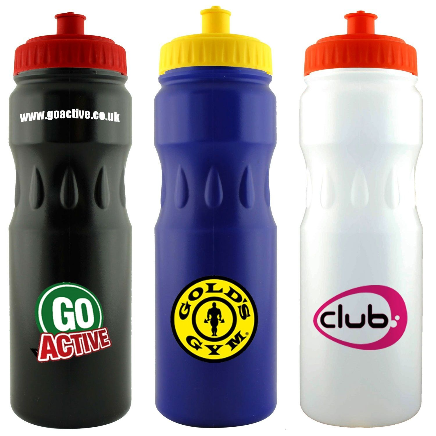 Large Sports Bottle Teardrop (Black, Blue, White)