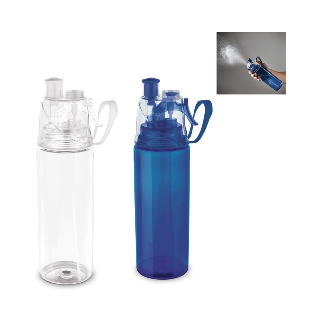 Push-Pull Sports Bottle with Vaporizer