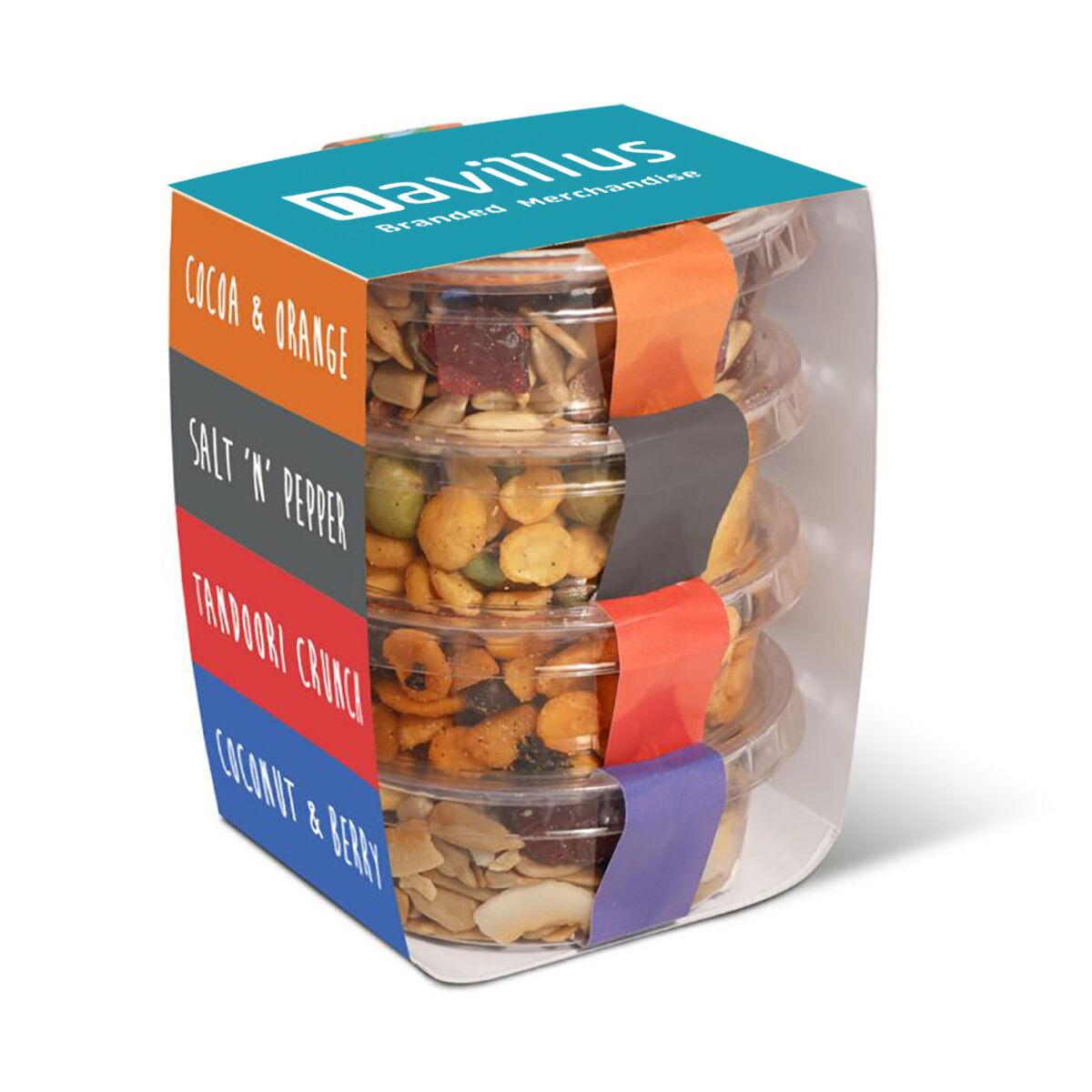 Healthy Snacks In Compostable Pots