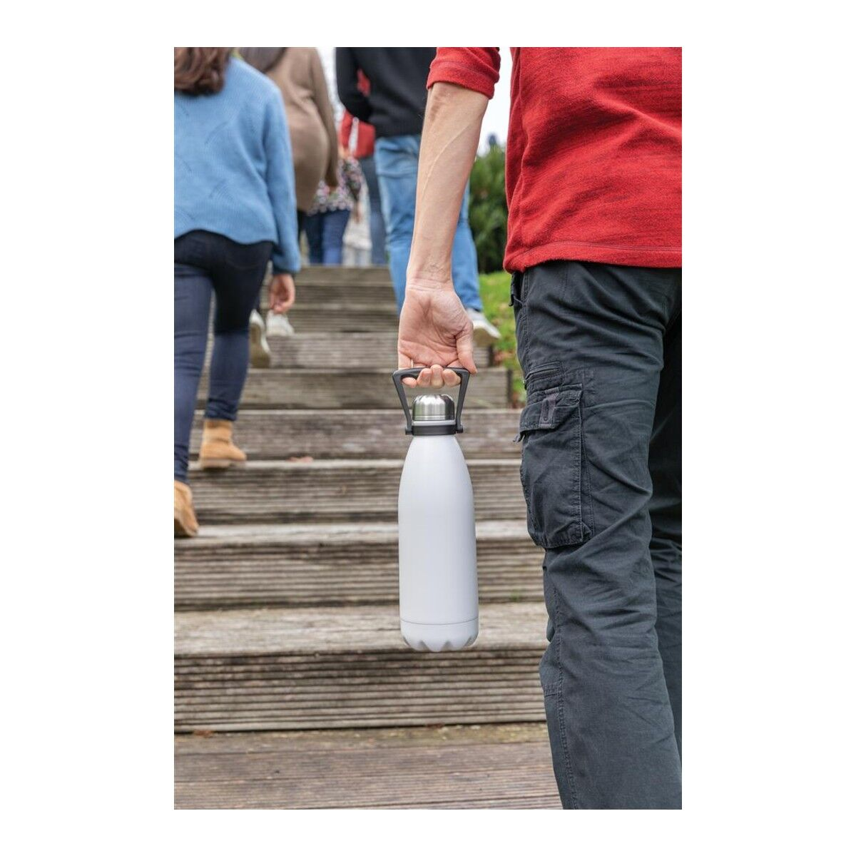 Large Stainless Steel Water Bottle with Handle
