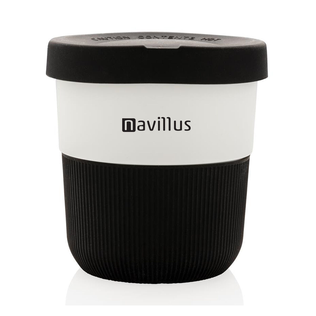 Sustainable PLA Coffee Cup in Black printed