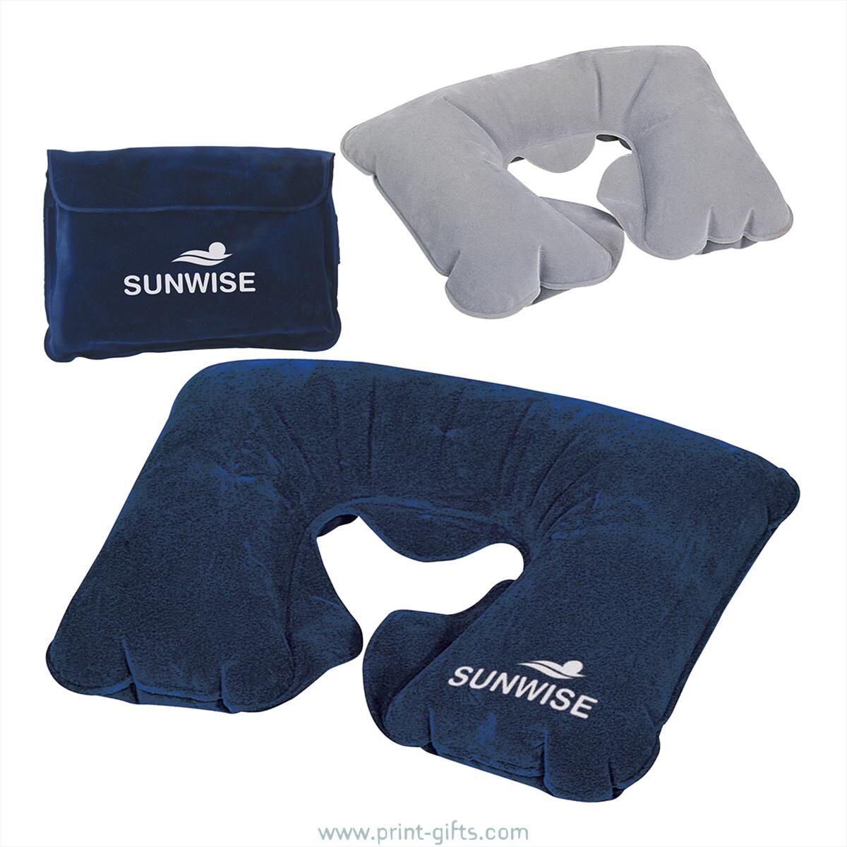 Printed Inflatable Travel Pillow