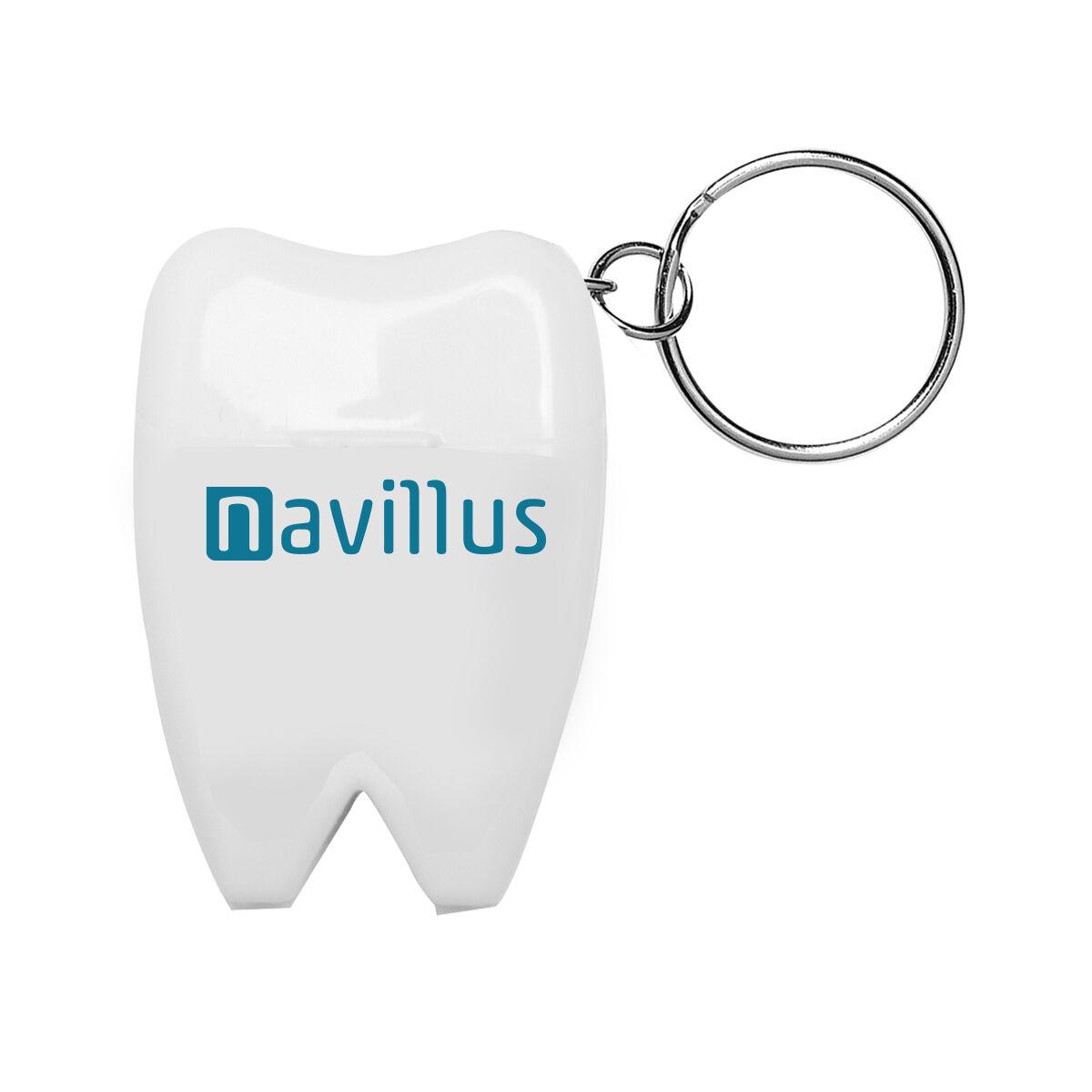 Tooth Shaped Dental Floss Keyring
