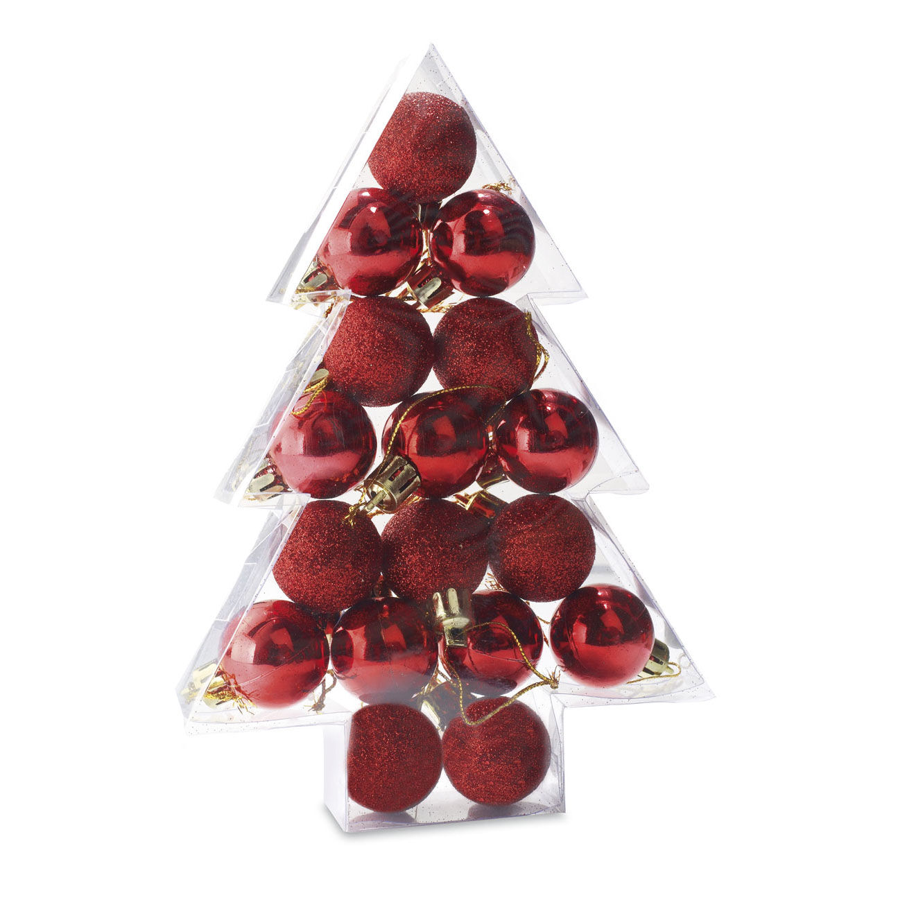 Christmas Baubles in a Shaped Box