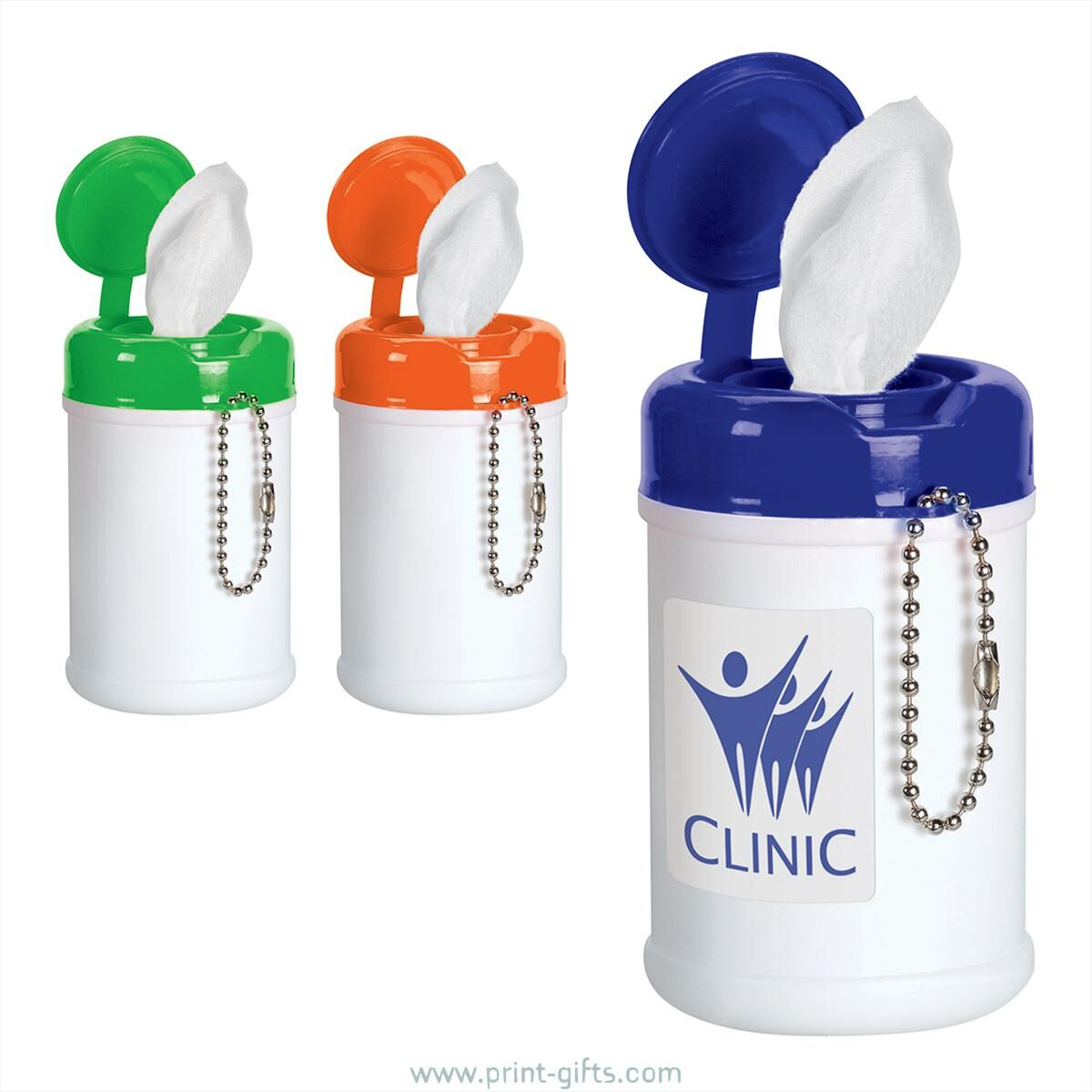 Promotional Mini Wet Wipe Tubs