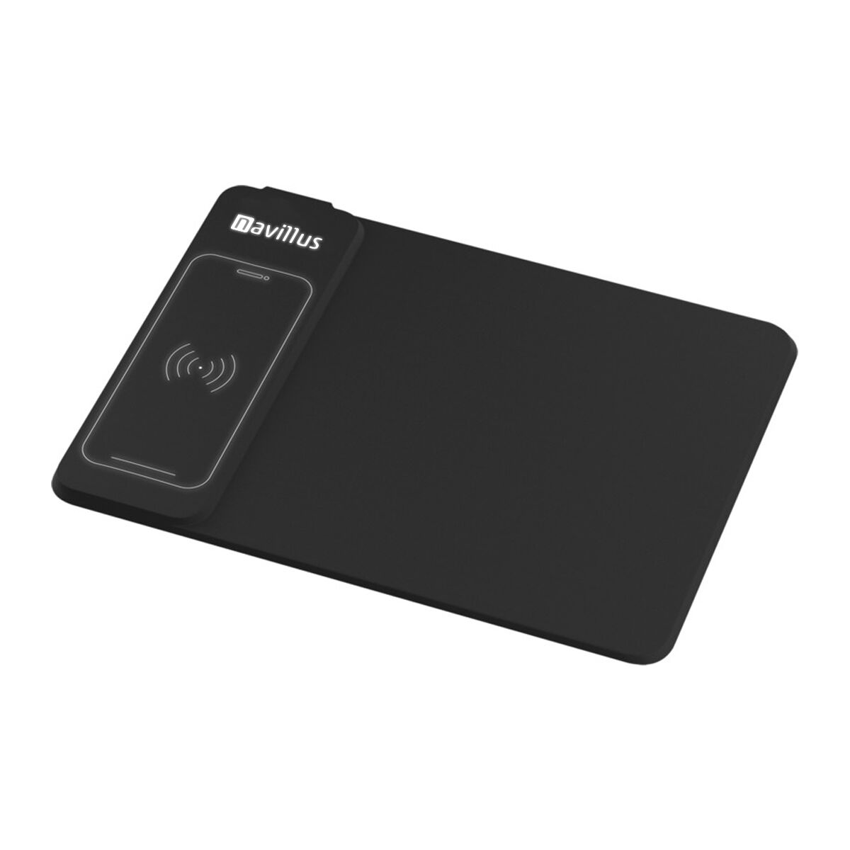 Mousemat Wireless Charger Lights Up Logo