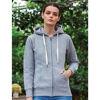 Mantis Womens zipped hoodie - Heather Grey