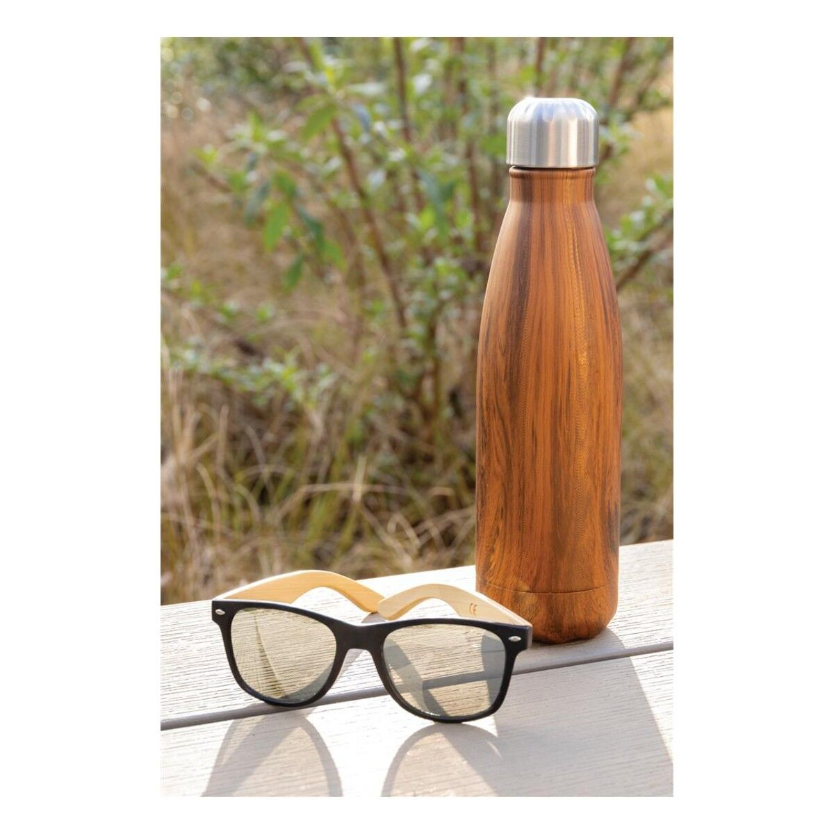 Wooden Effect Insulated Water Bottle