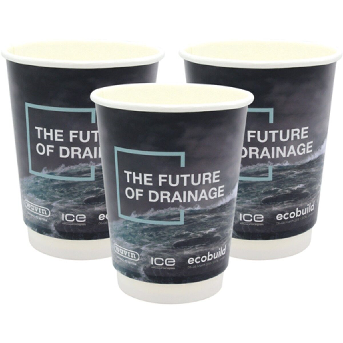 120z double walled compostable paper cups