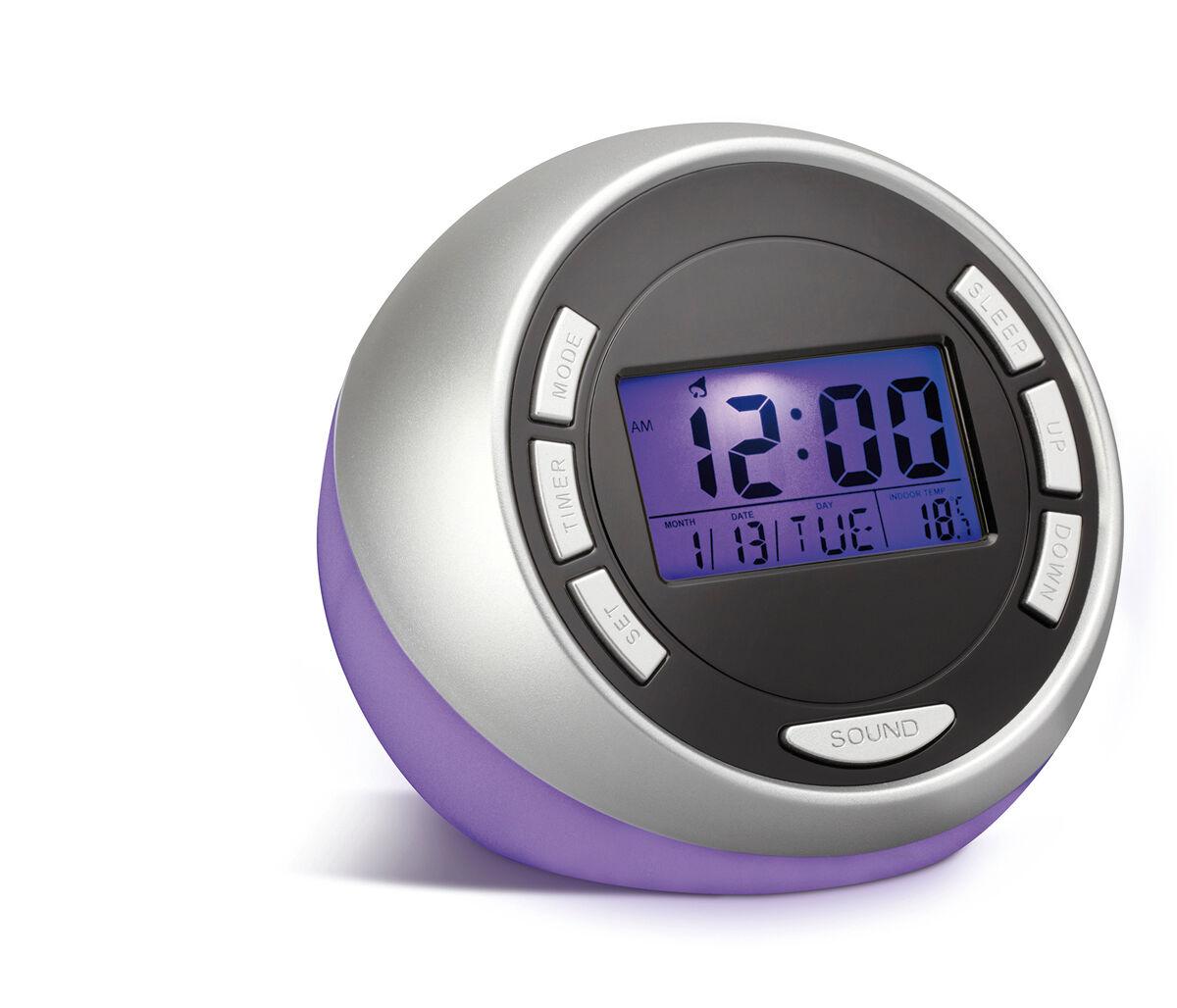 Reflects Antwerp Alarm Clock - Purple