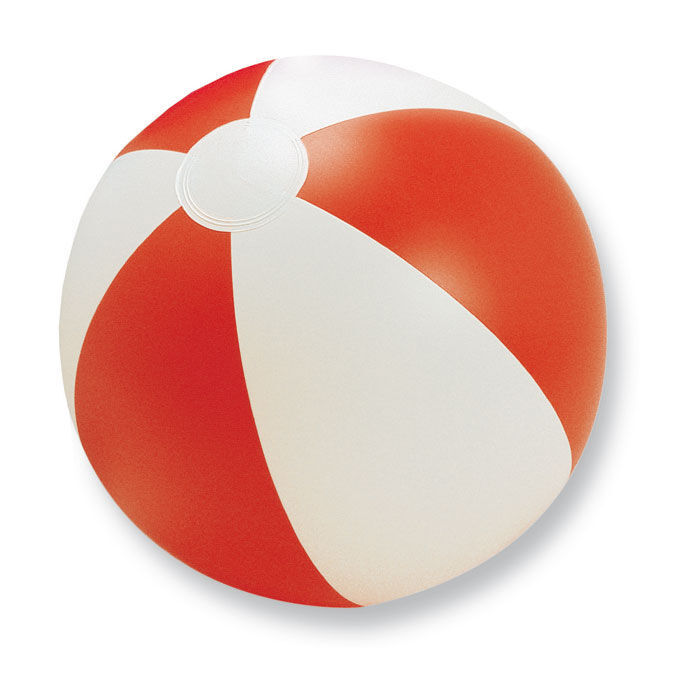 Promotional Printed Beachball - Red & White