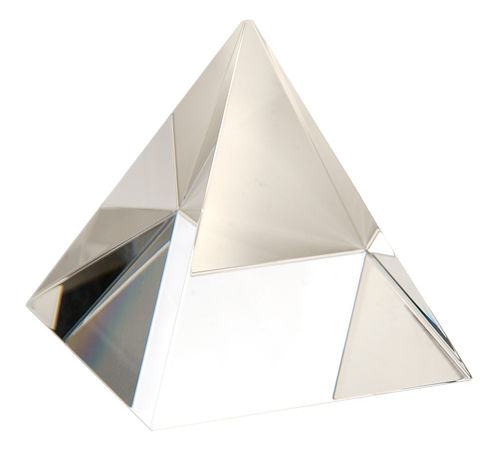 5 cm Clear Optical Crystal Pyramid