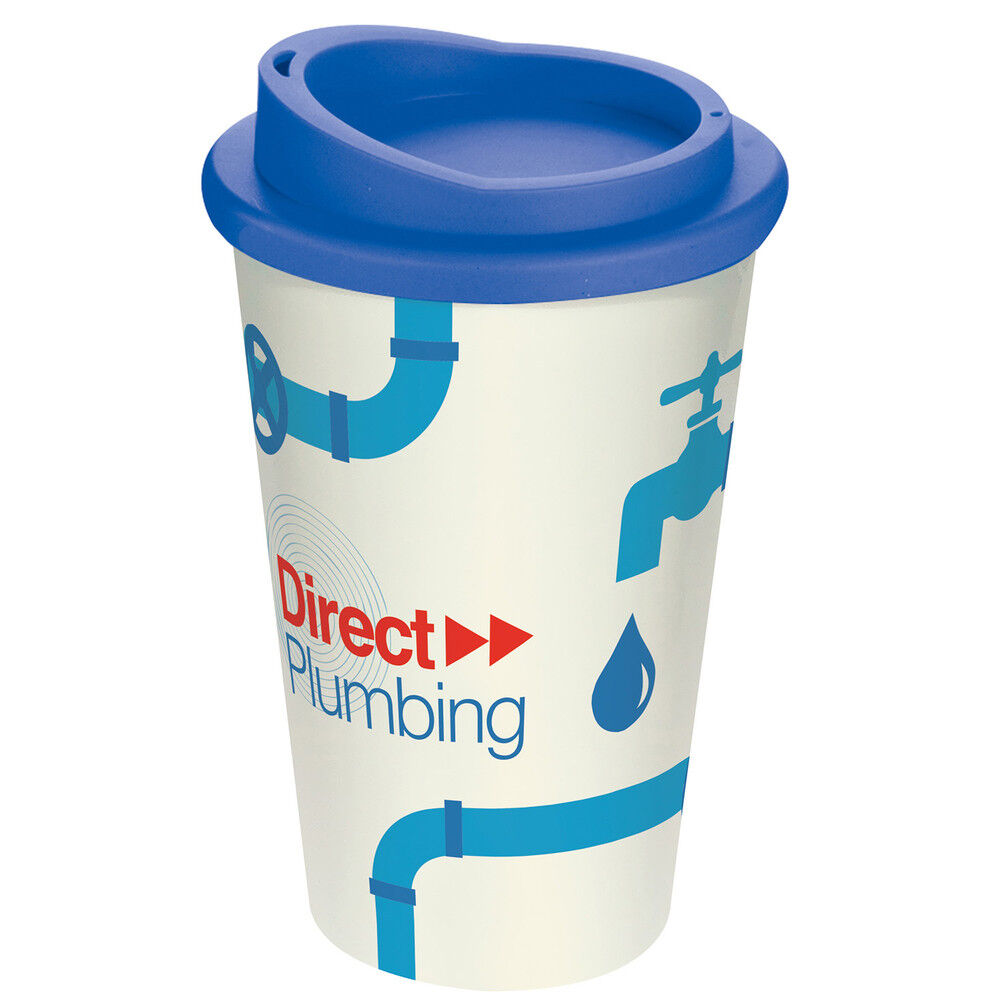 Americano Thermal Coffee Mugs with a Full Colour Wrap Print