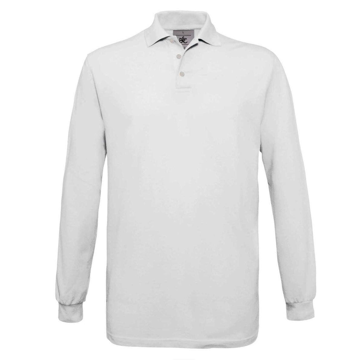 B&C Safran Long Sleeve Piqué Polo Shirts