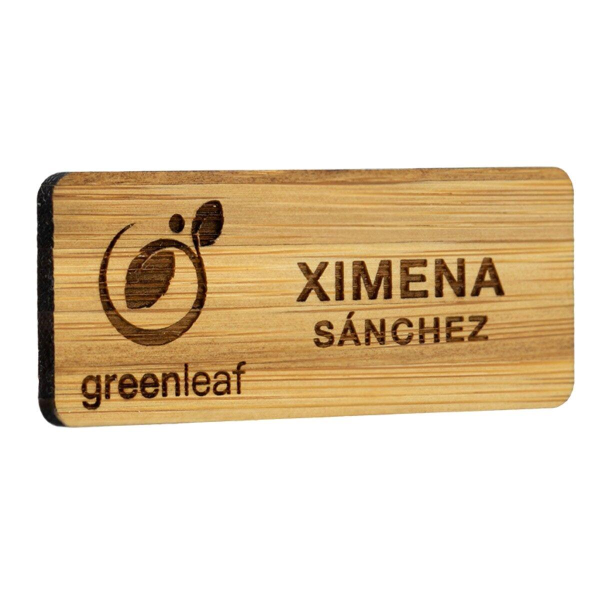 Sustainable Wood Name Badge engraved