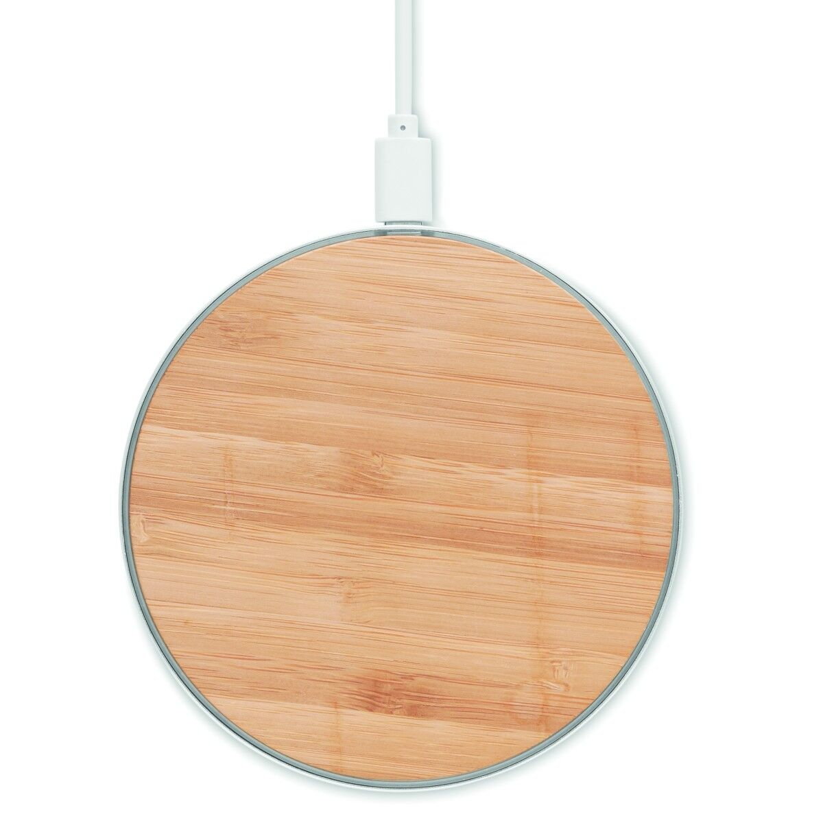 Wireless Fast Charger in Bamboo