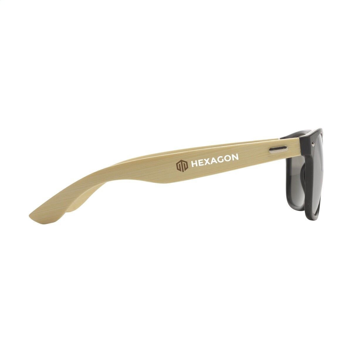 Bamboo Mix Sunglasses printed on arm