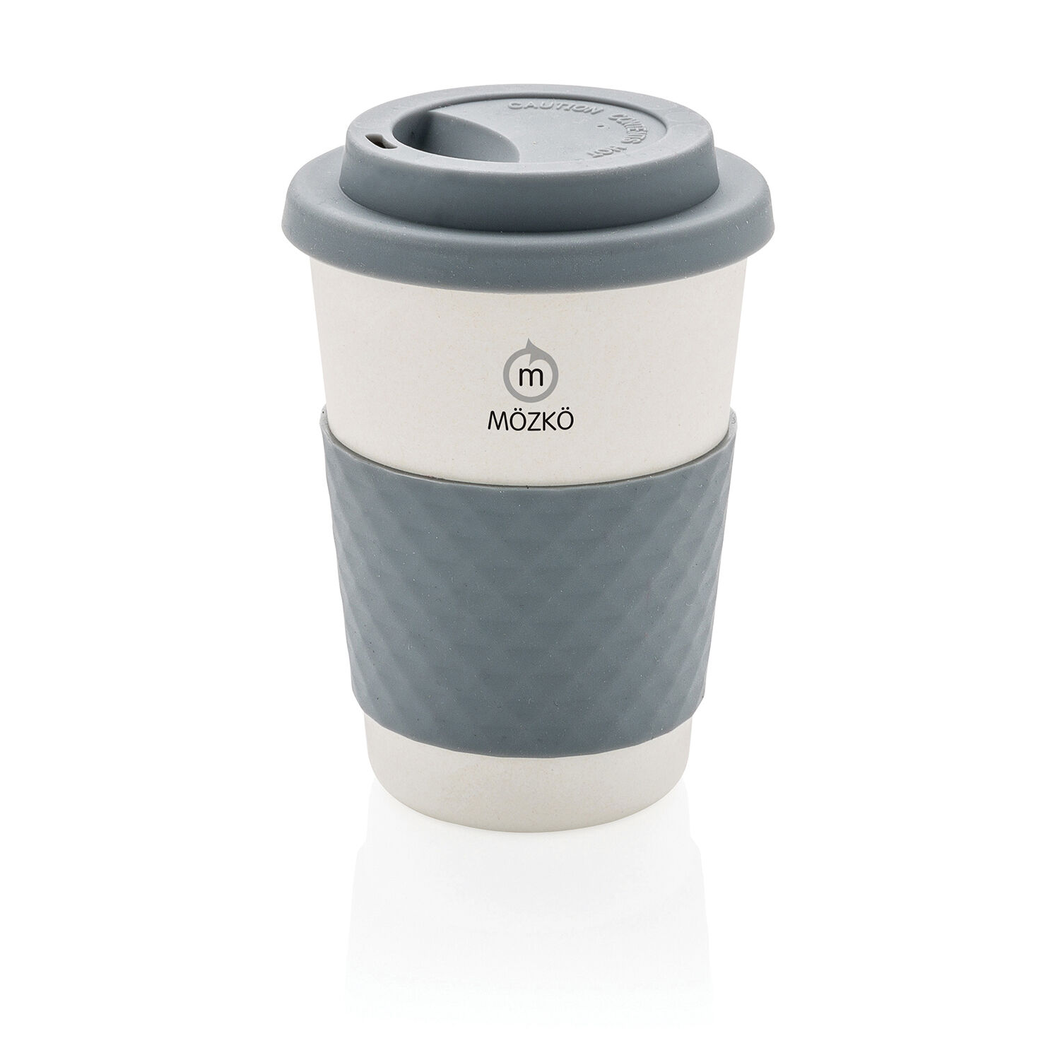 Bamboo Takeaway Cup White Grey