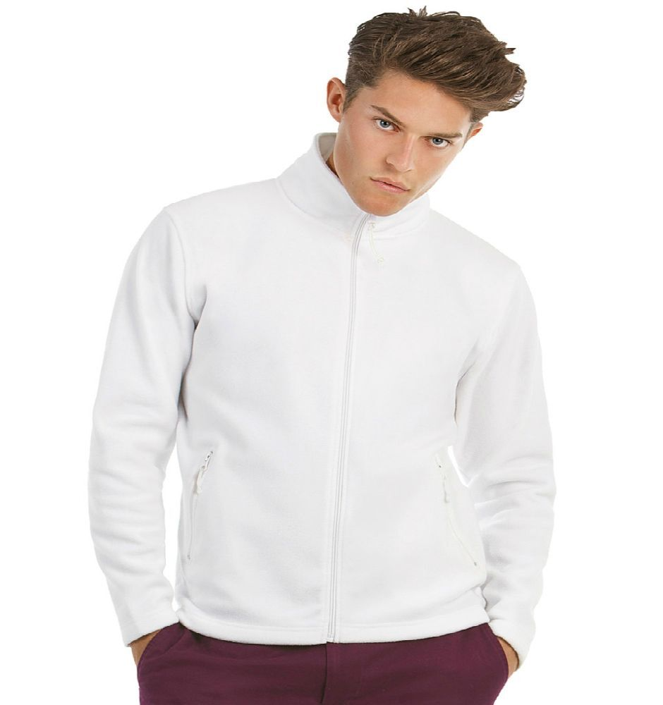 B&C Fleece Jacket Mens (White)