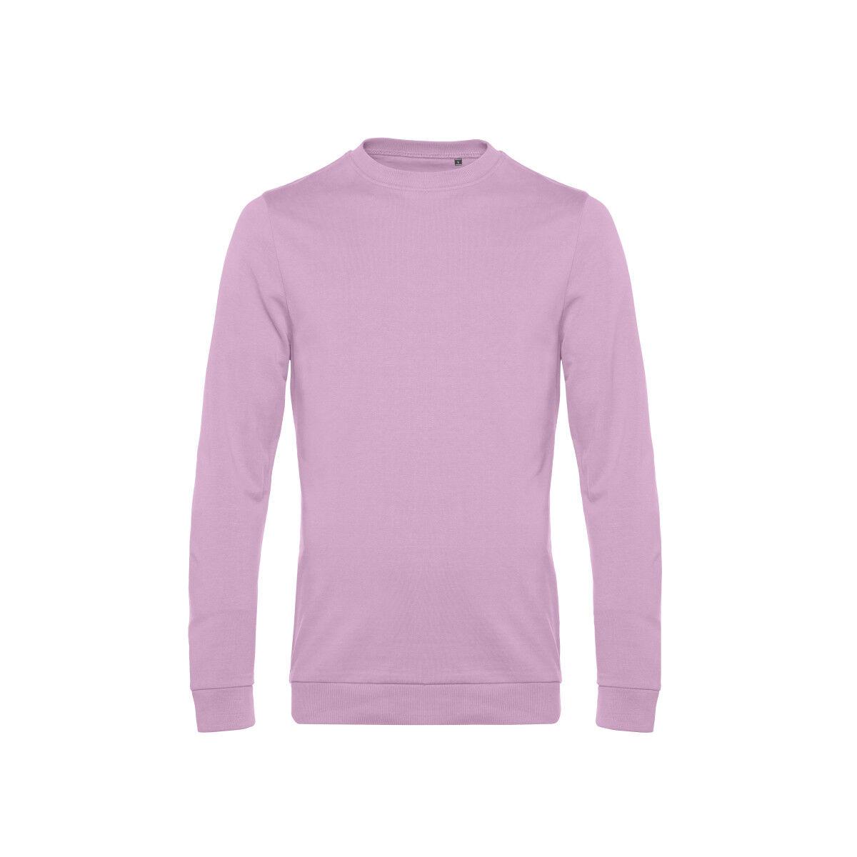 B&C Mens Set In Sweatshirt Candy Pink