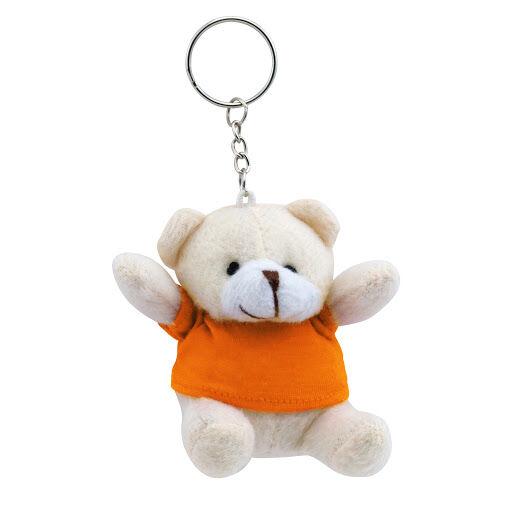 Teddy Bear Keyring - Orange