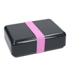 Bioplastic Natural Lunch Box in Black with pink strap