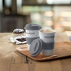 Ceramic Coffee Mug With Silicone Lid Grey